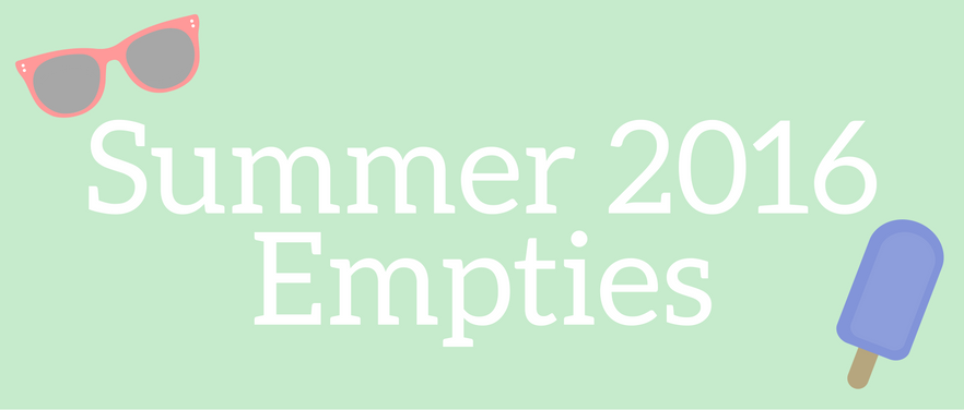 Nettle and Lily - Summer 2016 Empties - nettleandlily.com